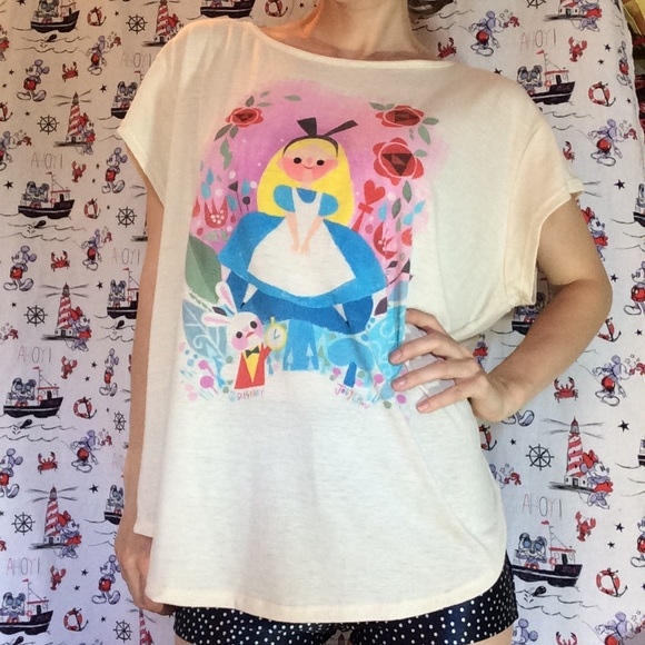 Disney Tops - Disney Joey Chou Alice in Wonderland Blouse Tee